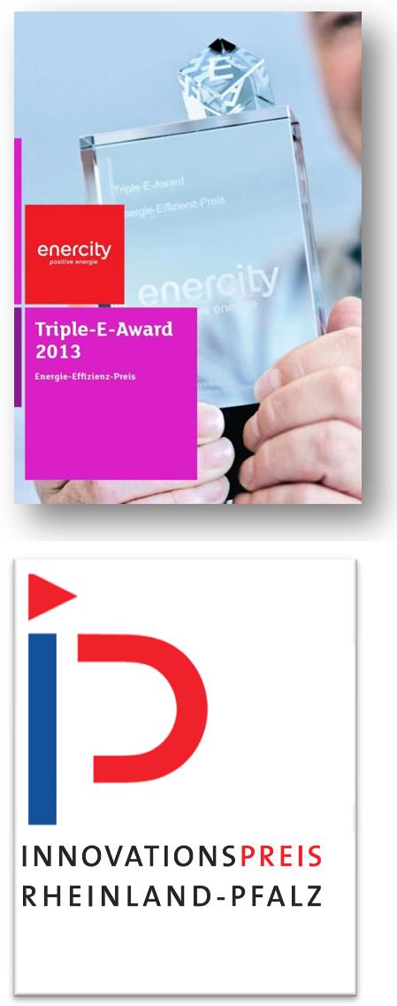 Auszeichnungen_Wärmerückgewinnung_Triple_E_Award_Innovationspreis_Rheinlandpfalz_iQma-energy