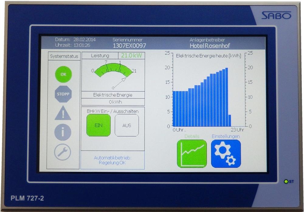 BHKW Steuerung Blockheizkraftwerk iQma energy